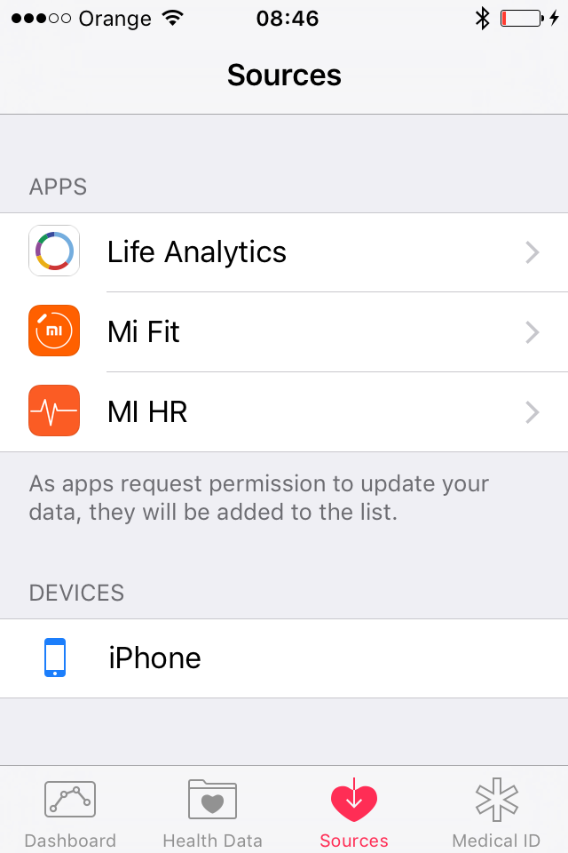 How to connect Xiaomi Mi Band 1S and Mi Band 2 to Apple