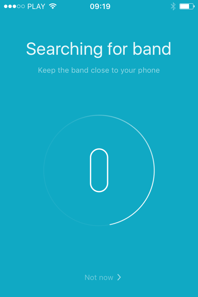 Xiaomi Mi Band is paired by other person  Ask them to unpair it and